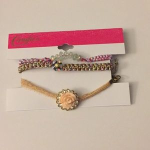 Candie's Set of 3 Multicolored Fashion Bracelets